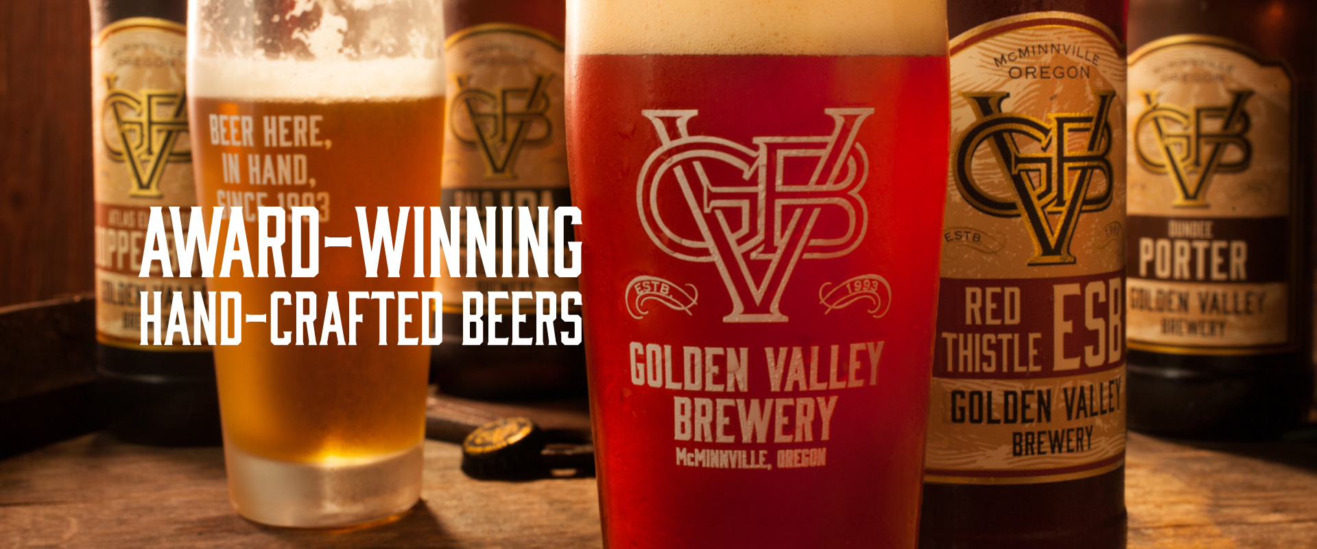 Award-Winning Hand-Crafted Beers by Golden Valley Brewery & Restaurant