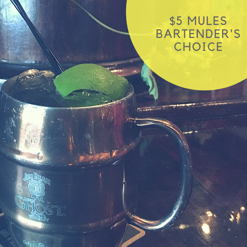 5% mules bartender's choice