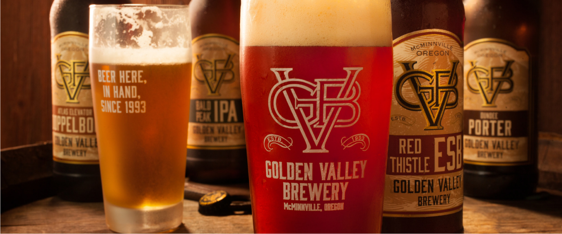 A Portion of Golden Valley Brewery's Lineup of Award-winning Beers