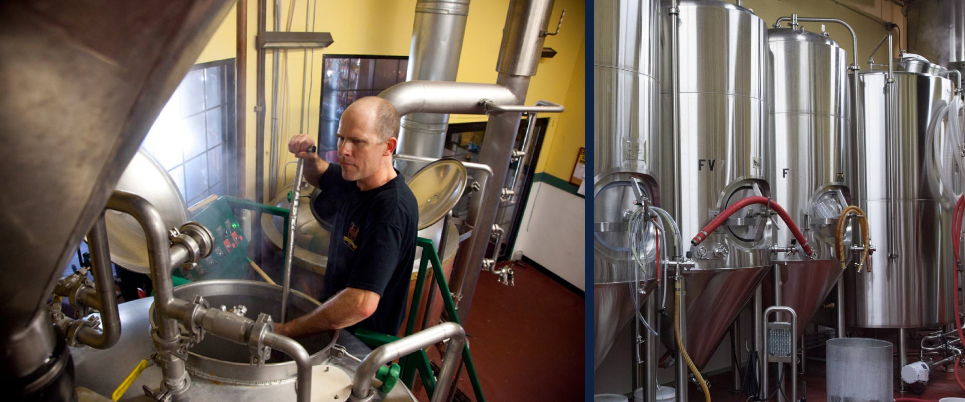 Golden Valley Brewery & Restaurant's Brewmaster Jesse Shue in the McMinnville brewery.